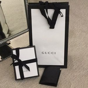 Gucci Bag, Box, Ribbon & Receipt Holder